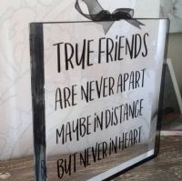 Clear Acrylic Free Standing Block - Friendship Gift